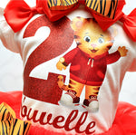 Load image into Gallery viewer, Daniel Tiger tutu set-Daniel Tiger outfit-Daniel Tiger dress