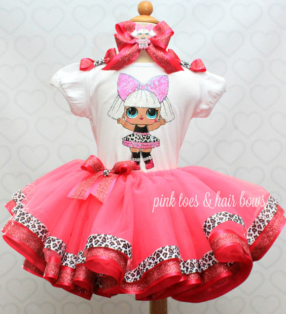 Diva lol surprise doll tutu set-Diva lol surprise outfit-Diva lol dress
