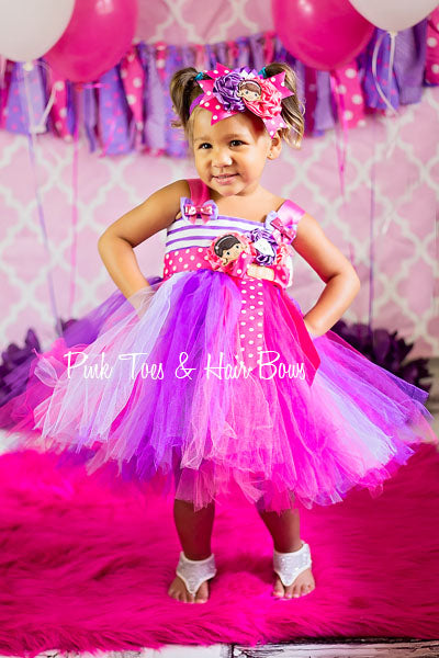 Doc Mcstuffins Dress- Doc Mcstuffins Tutu Dress- Doc Mcstuffins )Birthday Dress)