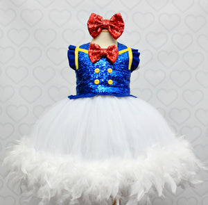 Donald Duck Tutu dress- Donald Duck tulle dress- Donald Duck dress- Donald Duck costume