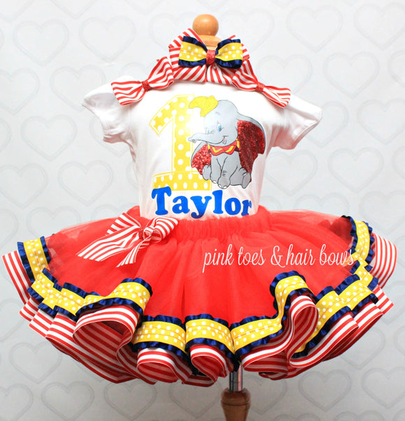 Dumbo tutu set-Dumbo outfit-Dumbo dress-Dumbo tutu