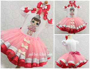 Fancy lol surprise doll tutu set-Fancy lol surprise outfit-Fancy lol dress