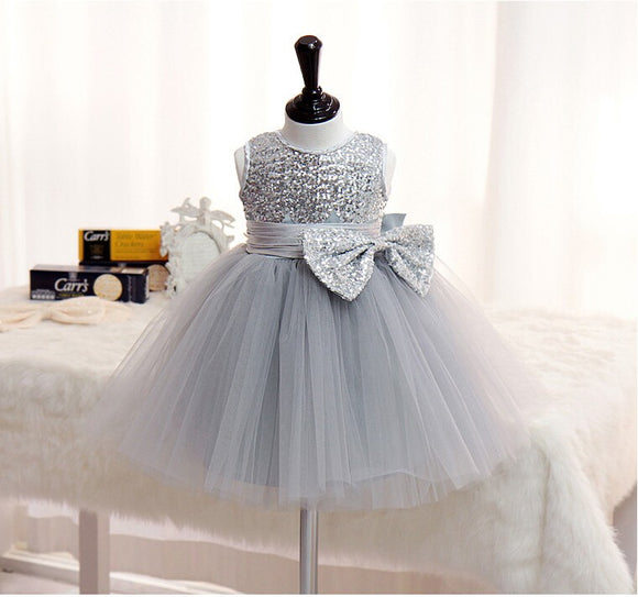 Silver Sequin Princess Dress(ready to ship)
