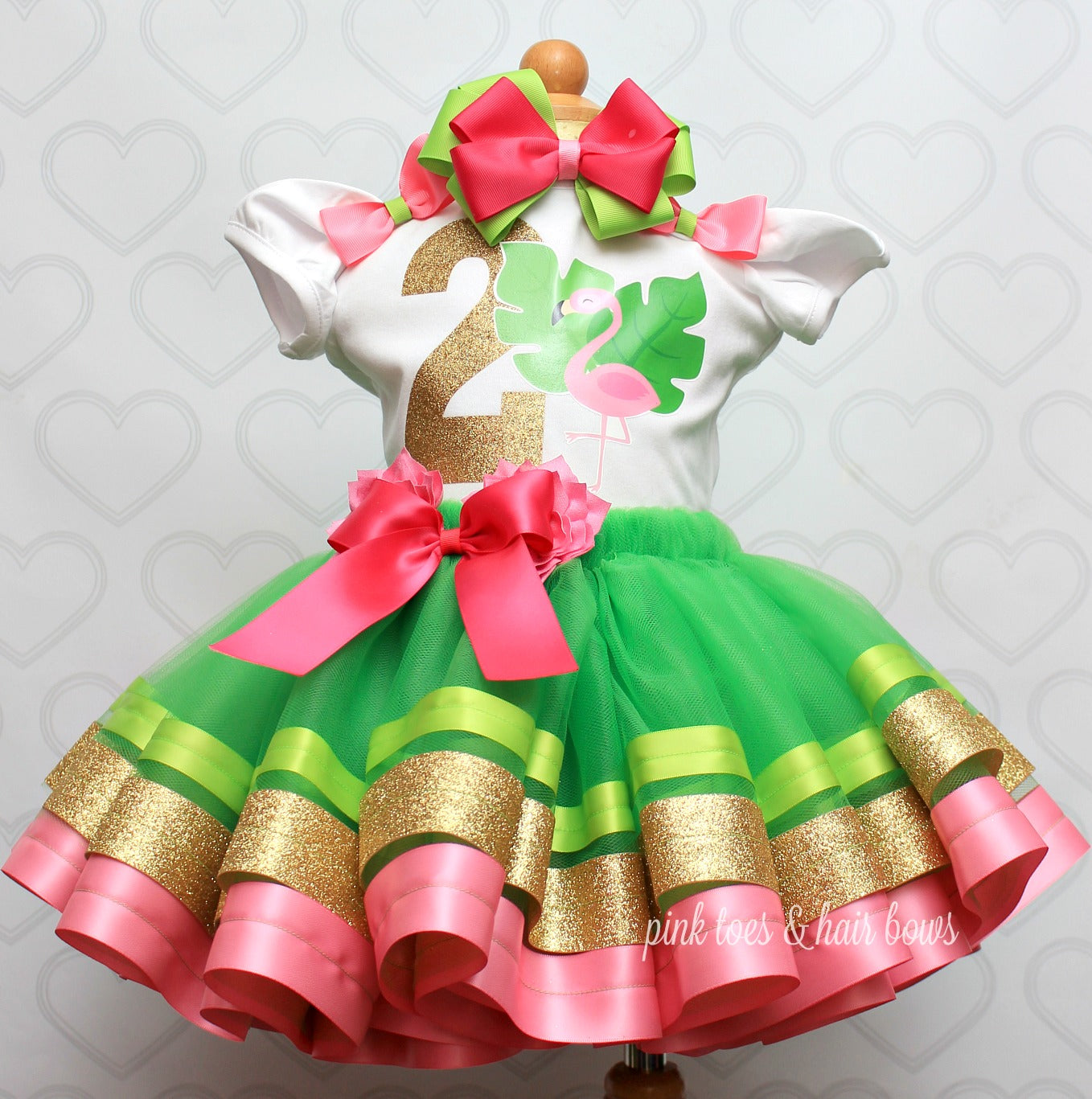 Flamingo tutu set-Flamingo outfit-Flamingo dress