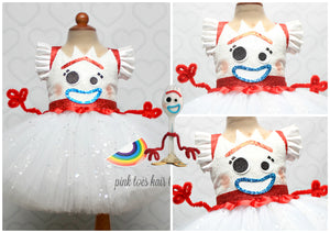 Forky Dress- Forky costume- Forky tutu dress-toy story costume-toy story dress