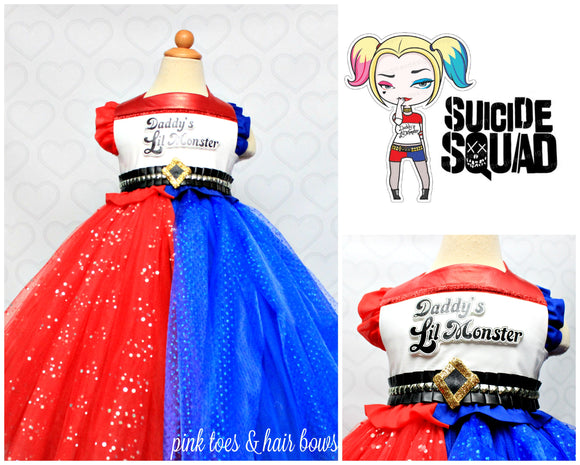 Harley Quinn Dress- Harley Quinn Costume