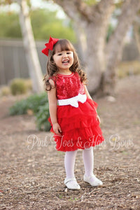Red Glitter Tutu Cute Dress-Ready to ship