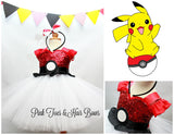 Pokemon dress-pokemon tutu dress- pokemon costume- pikachu tutu-pikachu costume-pokemon
