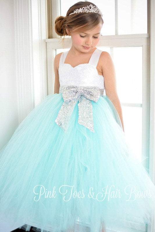 Flower girl dress aqua flower girl dress silver sequin dress aqua flower girl dress aqua flower girl dress silver sequin dress aqua and white mightylinksfo