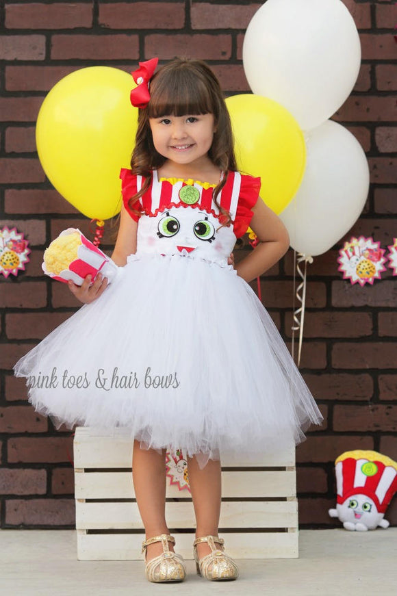 Shopkins tutu dress- shopkins costume-poppy popcorn costume