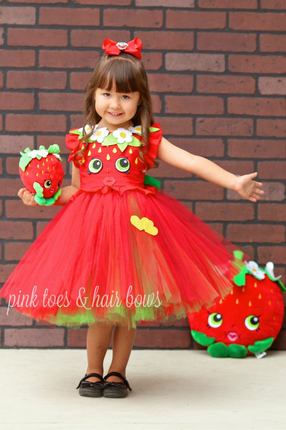 Shopkins tutu dress- shopkins costume-shopkins dress-strawberry kiss Dress
