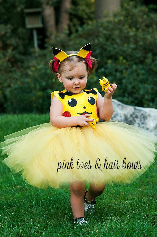 Pikachu tutu dress- pokemon costume- pikachu tutu-kisses dress-pokemon dress-pikachu costume-pokemon