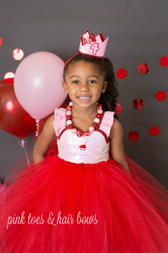 Peppa pig dress- Peppa pig tutu dress-peppa pig birthday-peppa pig costume