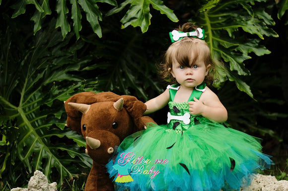 Pebbles costume- pebbles tutu dress- pebbles halloween costume
