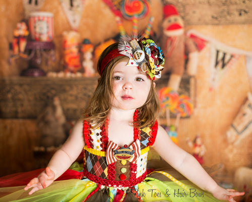 Circus tutu dress-vintage clown costume-Clown tutu dress- circus clown party birthday dress