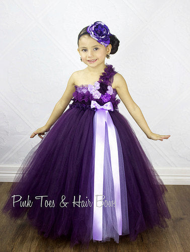 Purple Flower Girl