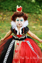 Queen of Hearts tutu dress-Queen of hearts costume-Alice in wonderland costume-