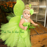 Tinkerbell Tutu Dress- Tinkerbell costume-Tinkerbell dress-Fairy costume