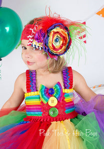 Circus tutu dress-Clown tutu dress- circus clown party birthday dress