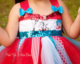 Dr. suess Tutu dress- Dr.suess dress- Dr.suess Costume-Cat in the hat dress