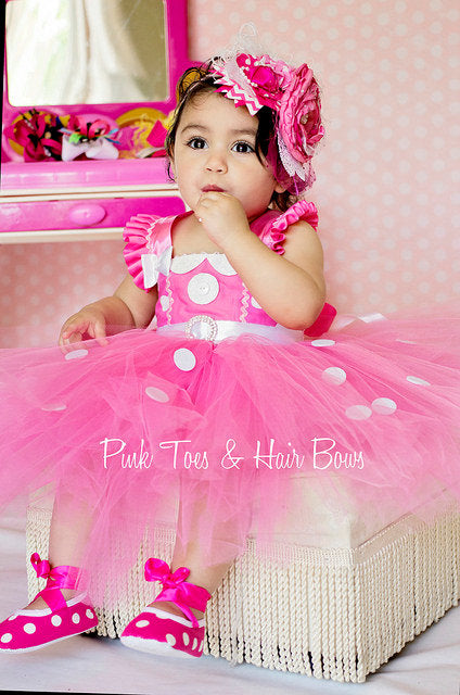 Minnie Mouse dress- Minnie Mouse tutu dress-Minnie Mouse costume-Minnie mouse birthday
