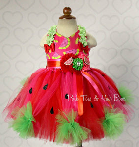 Watermelon tutu dress- Watermelon Pageant dress- Watermelon Costume