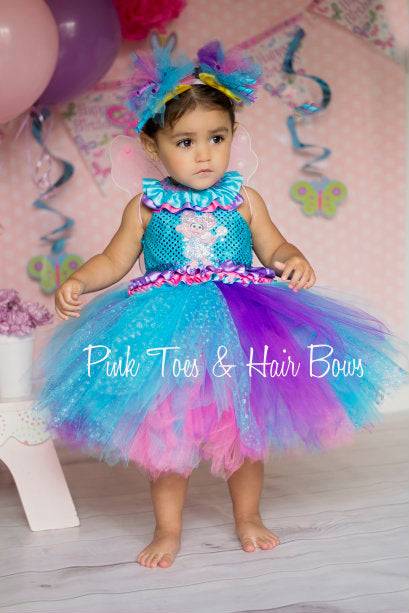 sc 1 st  Pink Toes u0026 Hair Bows & Abby Cadabby Dress- Abby Cadabby Tutu Dress-Abby Cadabby Costume ...