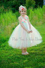 Flower girl dress-Mint peach and ivory Flower girl dress-The Hadley Flower Girl Dress