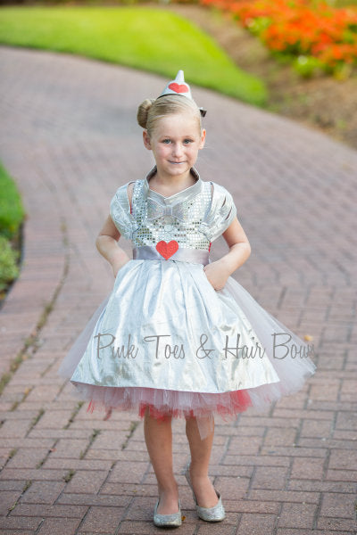 Tin Man Tutu dress- Wizard of oz tutu dress- Tin Man dress-Tin Man costume