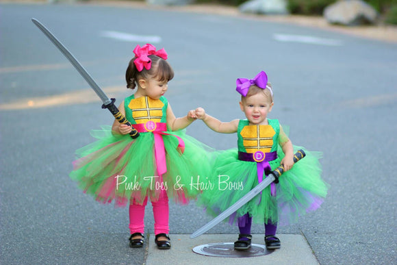 Teenage mutant ninja turtle costume- tmnt costume- purple tmnt dress- tmnt tutu dress-tmnt tutu