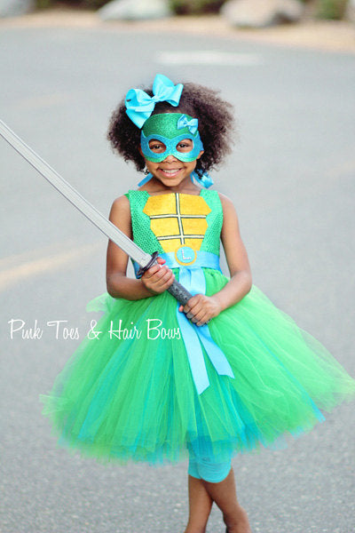 Teenage mutant ninja turtle costume- tmnt costume- tmnt dress- leonardo dress-leonardo costume