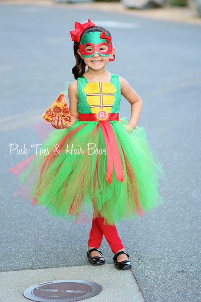 Teenage mutant ninja turtle costume- tmnt costume- tmnt dress- tmnt tutu dress-raphael costume
