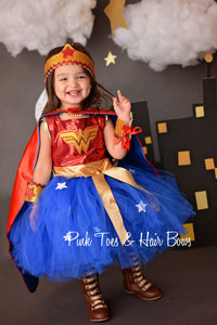 Wonder Woman dress- Wonder woman costume- wonder woman tutu dress- wonder woman