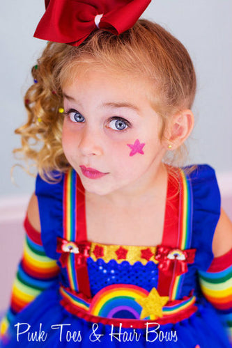 Rainbow Brite Tutu dress- Rainbow Brite  tulle dress- Rainbow Brite dress- Rainbow Brite costume