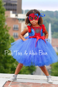 Spider man dress-Spider girl costume- spider girl dress- spider man tutu dress