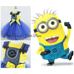 Despicable me inspired tutu dress-minion tutu dress- Minion Dress