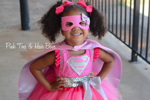 Super girl costume- super girl tutu dress- super girl costume- superman dress-superman tutu