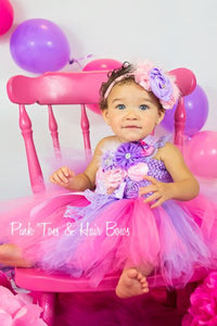 Minnie Mouse dress-lavender and pink