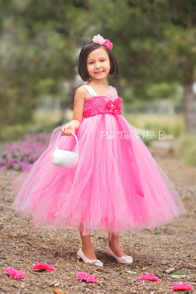 Flower girl dress-Light pink Flower girl dress- Pink flower girl dress-The Lillian