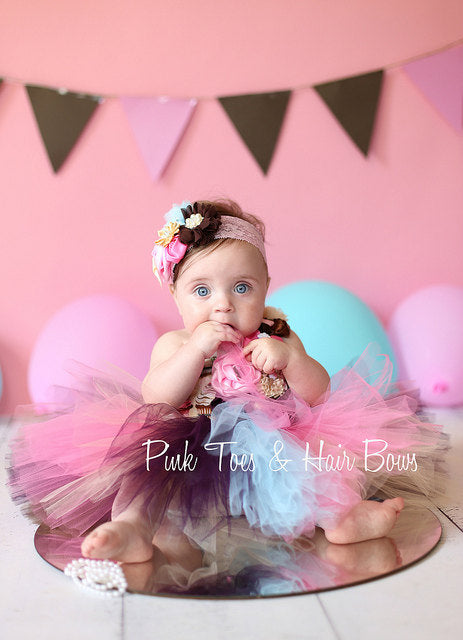 Vintage Cupcake Tutu dress-birthday dress