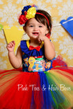 Sesame street dress- sesame street tutu dress-sesame street party dress
