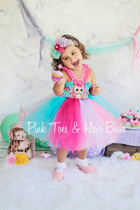 Owl Tutu dress- Owl tulle dress- Owl party dress- cake smash dress- first birthday dress