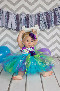 Monsters inc dress- girls party dress- cake smash dress- first birthday dress