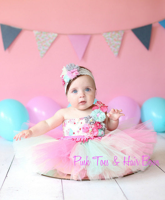 Girls birthday dress-cupcake tutu dress