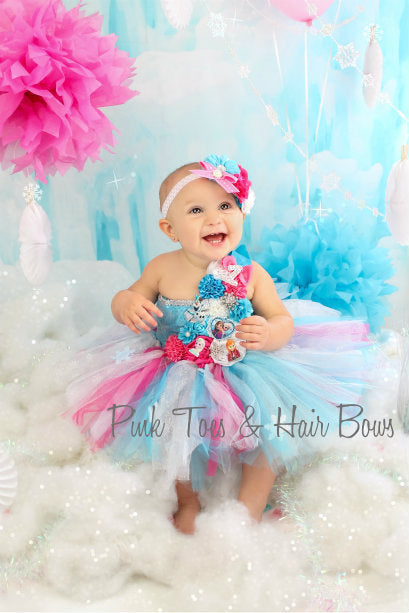 Frozen anna elsa Couture Birthday Dress- Tutu Birthday dress- Frozen dress- Frozen tutu dress