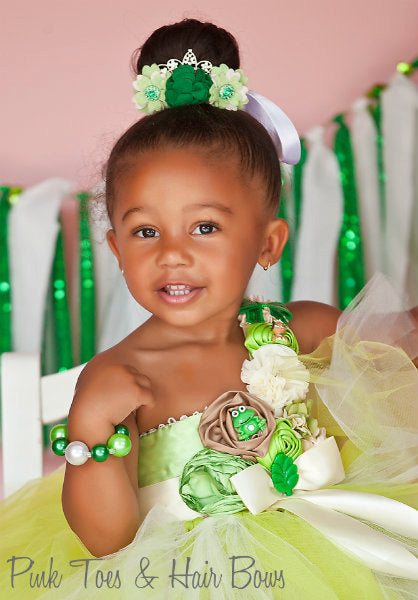 Princess Tiana Dress- Princess and the frog costume- Princess Tiana  tutu dress