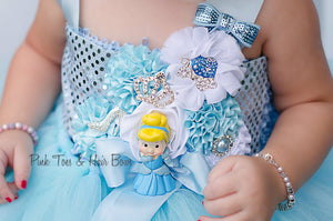Cinderella Dress- Cinderella tutu dress- cinderella tulle dress- cinderella costume-birthday dress