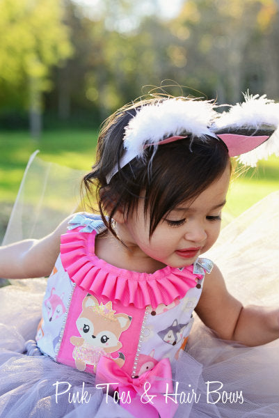 Fox Tutu dress- Fox dress- Fox party dress- Fox birthday party-Woodland Party dress