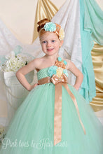 Flower girl dress-Mint Flower Girl Dress-Mint and Gold Flower girl dress-The Faye Alexis Dress