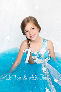 Winter Wonderland dress- Elsa frozen dress- Elsa dress- Elsa costume-winter wonderland dress